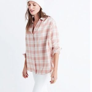 NEW Madewell Oversized Long Sleeve Danville Plaid